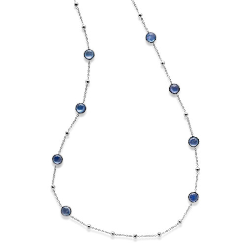 Multi Station Necklace in Sterling Silver SN143TFCQMOPLP