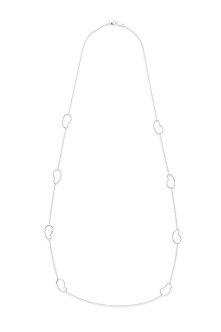 Kidney Station Necklace in Sterling Silver SN1448