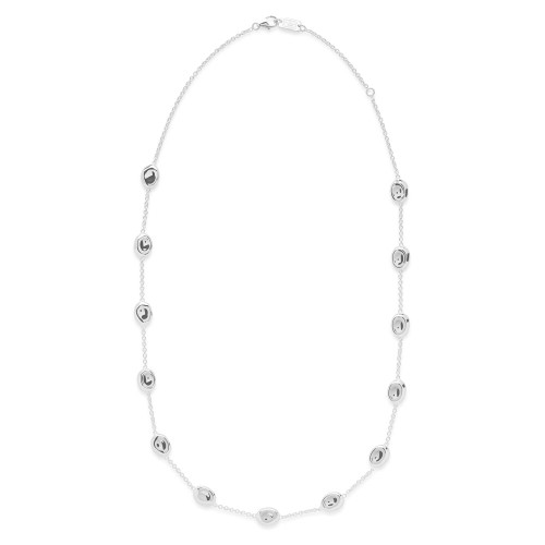 Short Multi Pebble Necklace in Sterling Silver SN1463