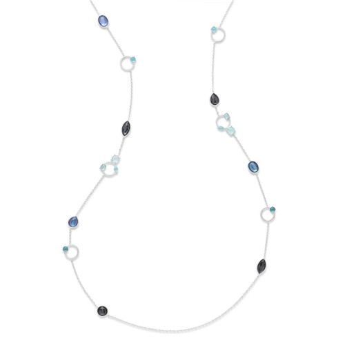 Open Circle Necklace in Sterling Silver SN1558ECLIPSE