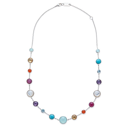 Lollitini Short Necklace in Sterling Silver SN1572X18MULTI