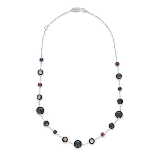 Lollitini Short Necklace in Sterling Silver SN1572X18NOIR