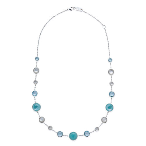 Lollitini Short Necklace in Sterling Silver SN1572X18OCEANIC