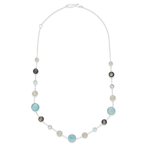 Lollitini Short Necklace in Sterling Silver SN1572X18VEIL