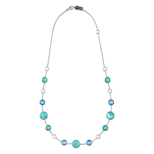 Lollitini Short Necklace in Sterling Silver SN1572X18WATERFA