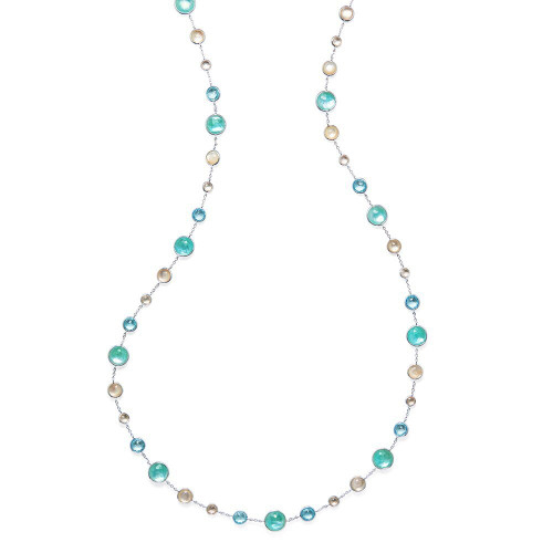 Lollitini Long Necklace in Sterling Silver SN1572X36OCEANIC