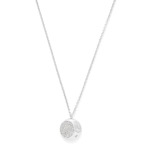 Pendant Necklace in Sterling Silver with Diamonds SN1579DIA