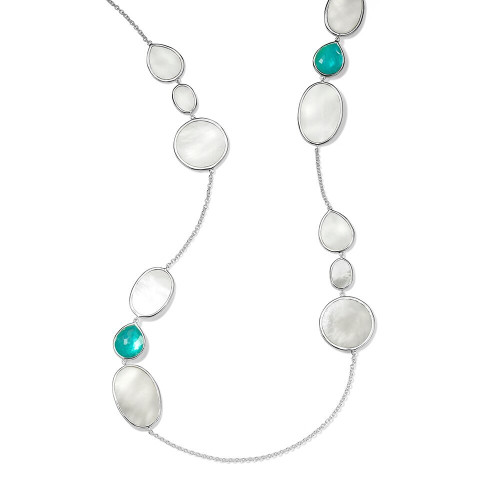 Stone & Shell Necklace in Sterling Silver SN1681ATLANTIC