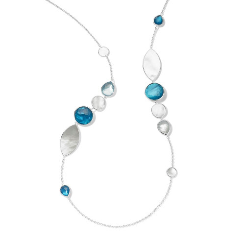 Stone & Shell Necklace in Sterling Silver SN1681DELFT
