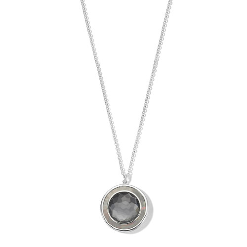 Medium Circle Pendant Necklace in Sterling Silver SN1707DFHEMBKL