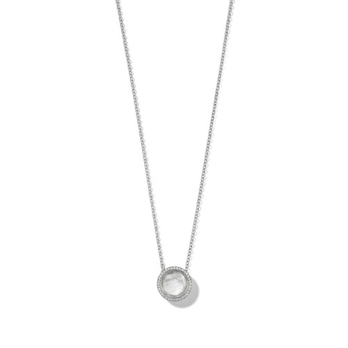 Carnevale Stone Necklace in Sterling Silver with Diamonds SN1750DFMDIAGR2