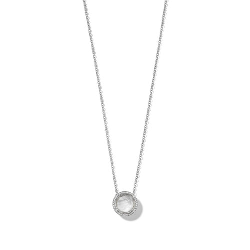 Carnevale Stone Necklace in Sterling Silver with Diamonds SN1750DFMDIAIY