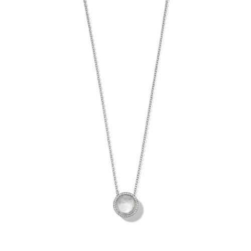 Carnevale Stone Necklace in Sterling Silver with Diamonds SN1750DFMDIATU