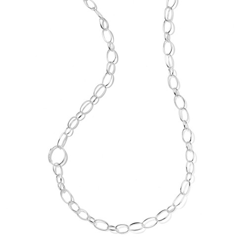 Smooth Link Long Chain Necklace in Sterling Silver SN264X37.5