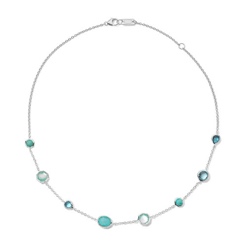 Mini Station Necklace in Sterling Silver SN383WATERFALL