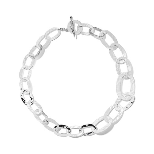 Roma Links Long Chain Necklace in Sterling Silver SN494-18
