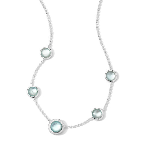 Necklace in Sterling Silver with Diamonds SN927DFBTMOPDIA