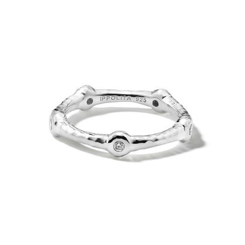 5 Diamond Ring in Sterling Silver SR013DIA