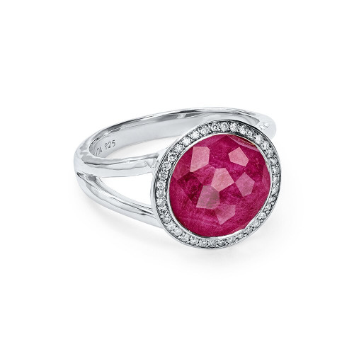 Mini Ring in Sterling Silver with Diamonds SR386DFARUDIA