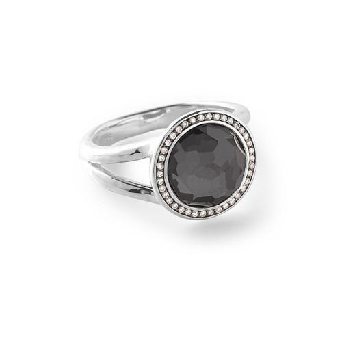 Mini Ring in Sterling Silver with Diamonds SR386DFHEMDIA