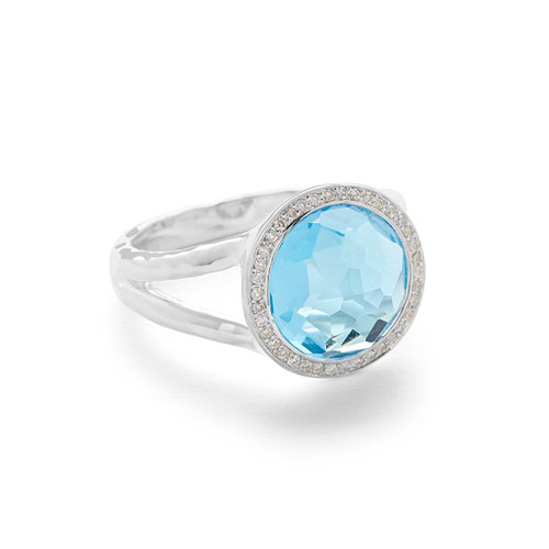 Mini Ring in Sterling Silver with Diamonds SR386SBTDIA