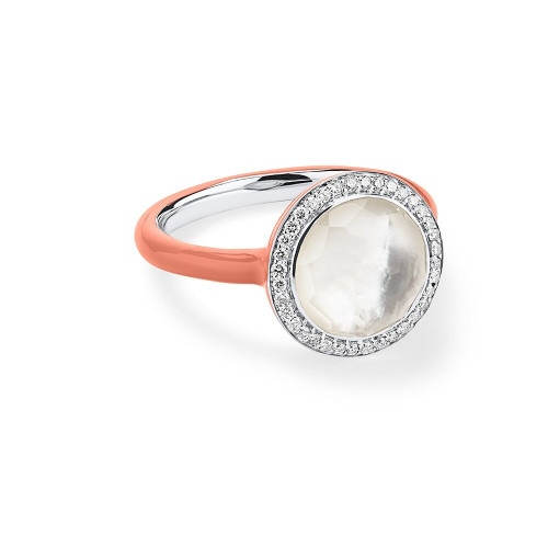 Carnevale Ring in Sterling Silver with Diamonds SR975DFMDICP