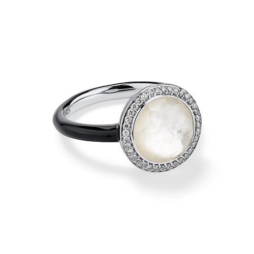 Carnevale Ring in Sterling Silver with Diamonds SR975DFMDIDB