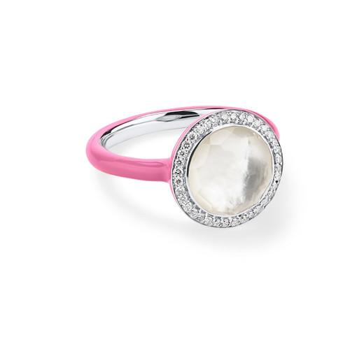 Carnevale Ring in Sterling Silver with Diamonds SR975DFMDIPK1