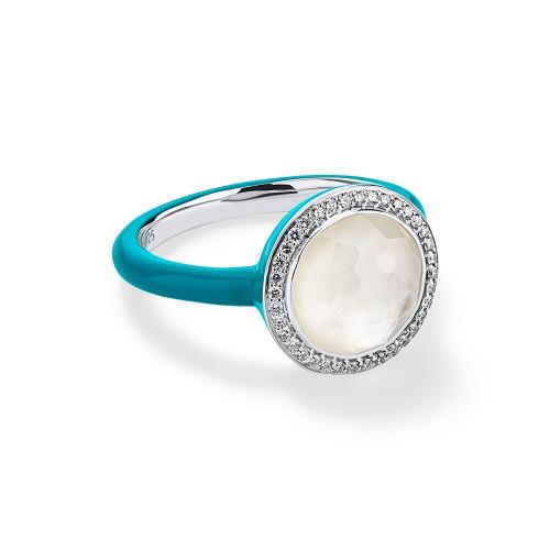 Carnevale Ring in Sterling Silver with Diamonds SR975DFMDITU