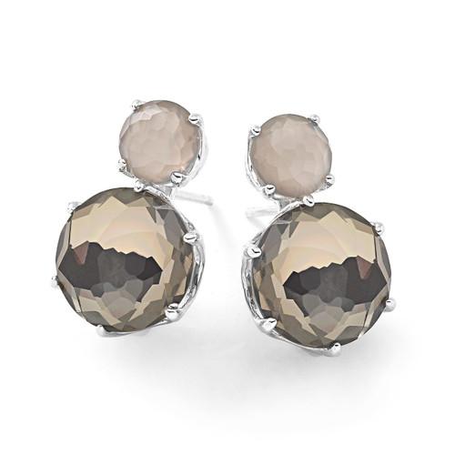 Stud Earrings in Sterling Silver SE1593MGRDFPYR