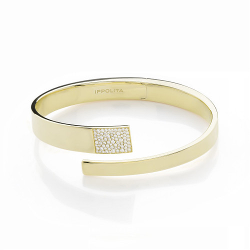 Embrace Bangle in 18K Gold with Diamonds GB879DIA