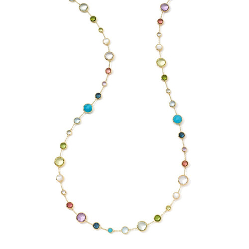Lollitini Long Necklace in 18K Gold GN618X36MULTI
