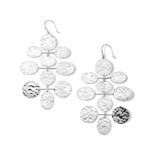 Crinkle Hammered Mobile Cascade Earrings in Sterling Silver SE2420