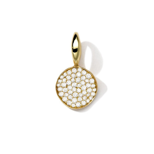 Online Exclusive Mini Flower Charm in 18K Gold with Diamonds GC083DIA