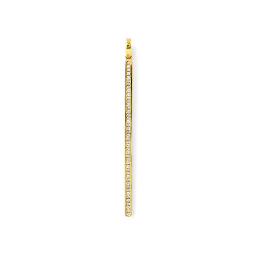 Online Exclusive Bar Charm in 18K Gold with Diamonds GC142DIA-SB-PA