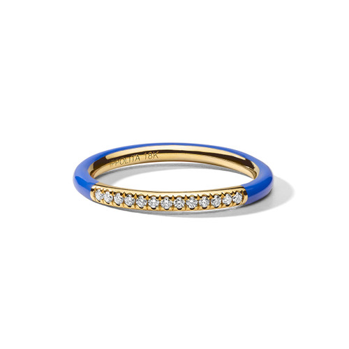 Band Ring in 18K Gold with Diamonds GR875DIAVB