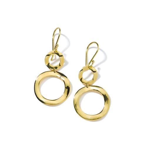 Mini Snowman Earrings in 18K Gold GE010-PA