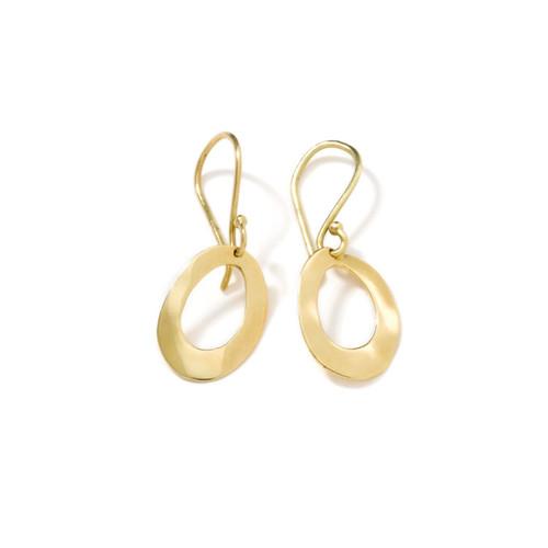 Mini Wavy Oval Earrings in 18K Gold GE012-PA