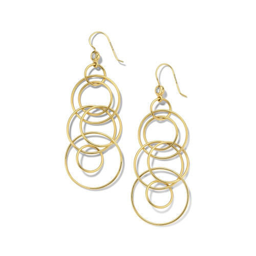Jet Set Earrings in 18K Gold with Diamonds GE023-PA