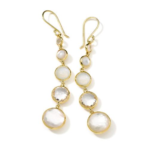 Lollitini 5-Stone Drop Earrings in 18K Gold GE1015FLIRT-PA