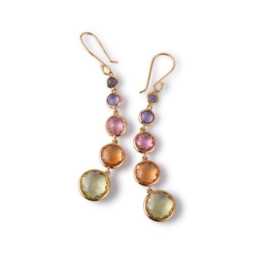 Lollitini 5-Stone Drop Earrings in 18K Gold GE1015LOLRAIN-V2