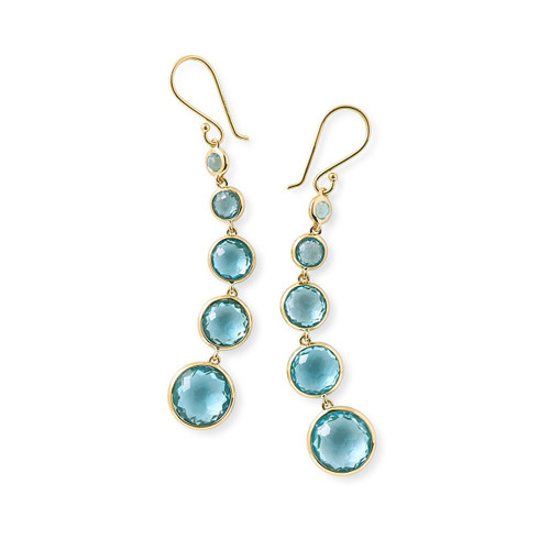 Lollitini 5-Stone Drop Earrings in 18K Gold GE1015SBT