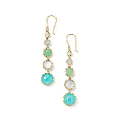 Lollitini 5-Stone Drop Earrings in 18K Gold GE1015SIREN