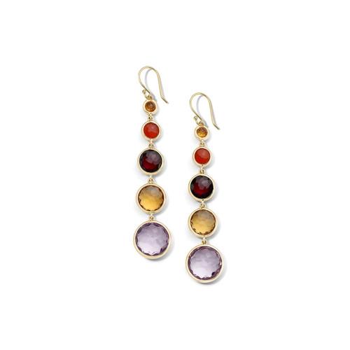 Lollitini 5-Stone Drop Earrings in 18K Gold GE1015SONOMA