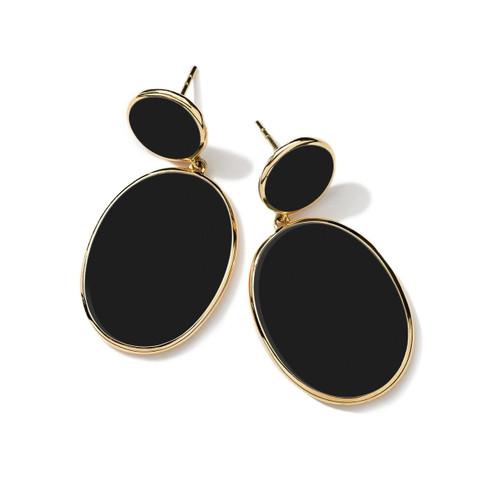 Snowman Earrings in 18K Gold GE1163NXSL-PA