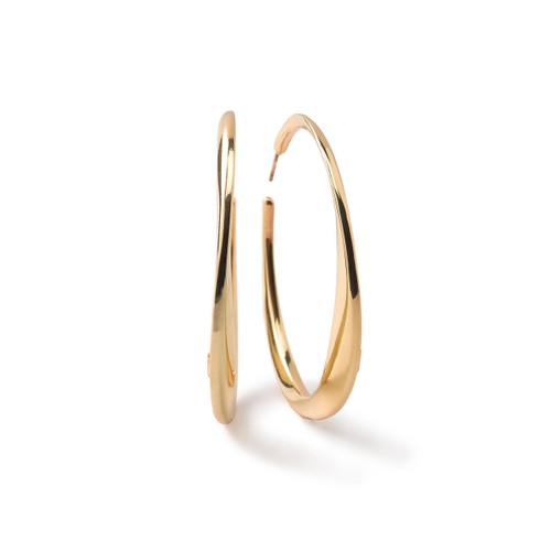 Large Twisted Hoop Earrings in 18K Gold GE1416