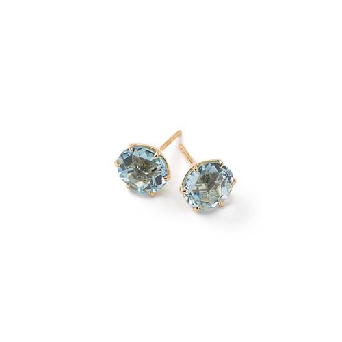 Medium Round Stud Earrings in 18K Gold GE1433BT