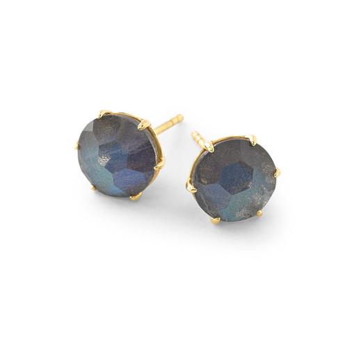 Medium Round Stud Earrings in 18K Gold GE1433DFBTLAB