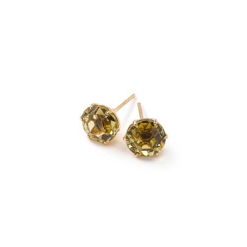Medium Round Stud Earrings in 18K Gold GE1433GG-PA