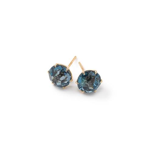 Medium Round Stud Earrings in 18K Gold GE1433LBT-PA